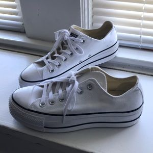 Never worn Converse white platform All Star